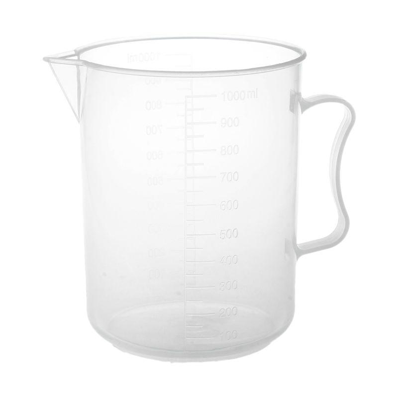1000ml Transparent Graduated Beaker With Handle