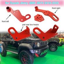 Zughaken Vorne Links/Rechts oder Hinten Auto Tow Haken für Suzuki Jimny JB64 JB74 2018 2019 2020 Auto außen Teile Abschleppen Haken Unterstützung