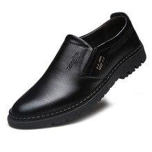 Zapatos informales de piel auténtica para Hombre, mocasines transpirables, suaves, sin cordones, para primavera y otoño, 2020