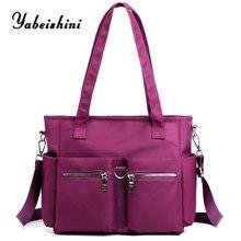 women's bag Nylon cloth Tote Lady's travel bag eco Shoulder Bags reusable Shopping Bag Large capacity multi-outer bag sac a main