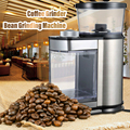 Moulin à café électrique moulin à café machine acier inoxydable boîte Anti saut roue plate rectifieuse moulin à café|Moulins à café électriques| |  -