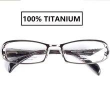 Monturas de gafas de titanio de la mejor calidad japonesa para miopía, hombres