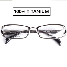 ญี่ปุ่นคุณภาพสูง TITANIUM สายตาสั้นกรอบแว่นตาผู้ชาย