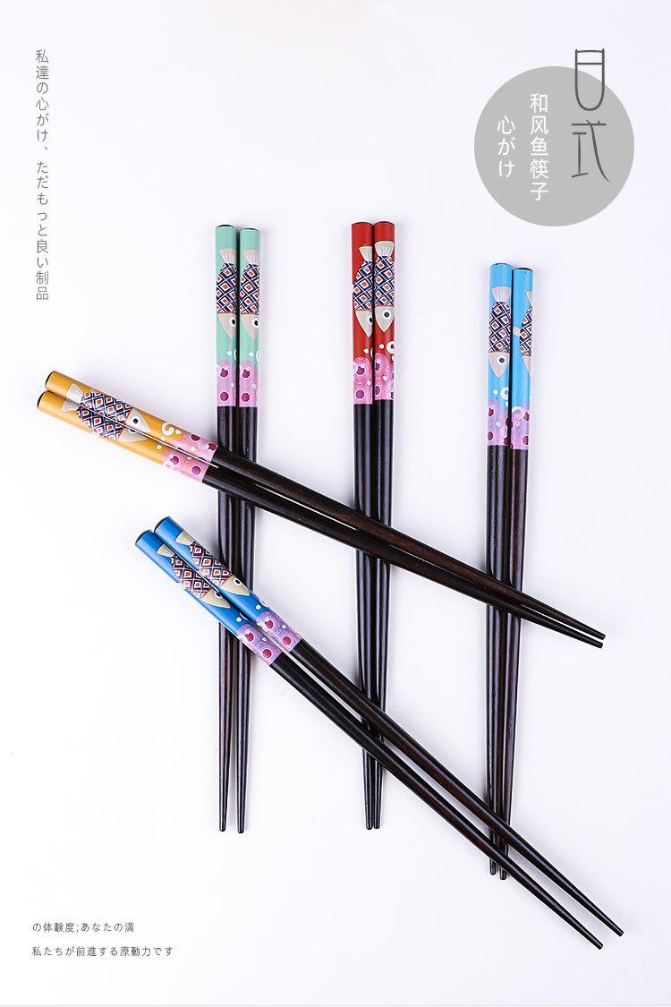 1 пара деревянные бамбуковые палочки для еды в японском стиле