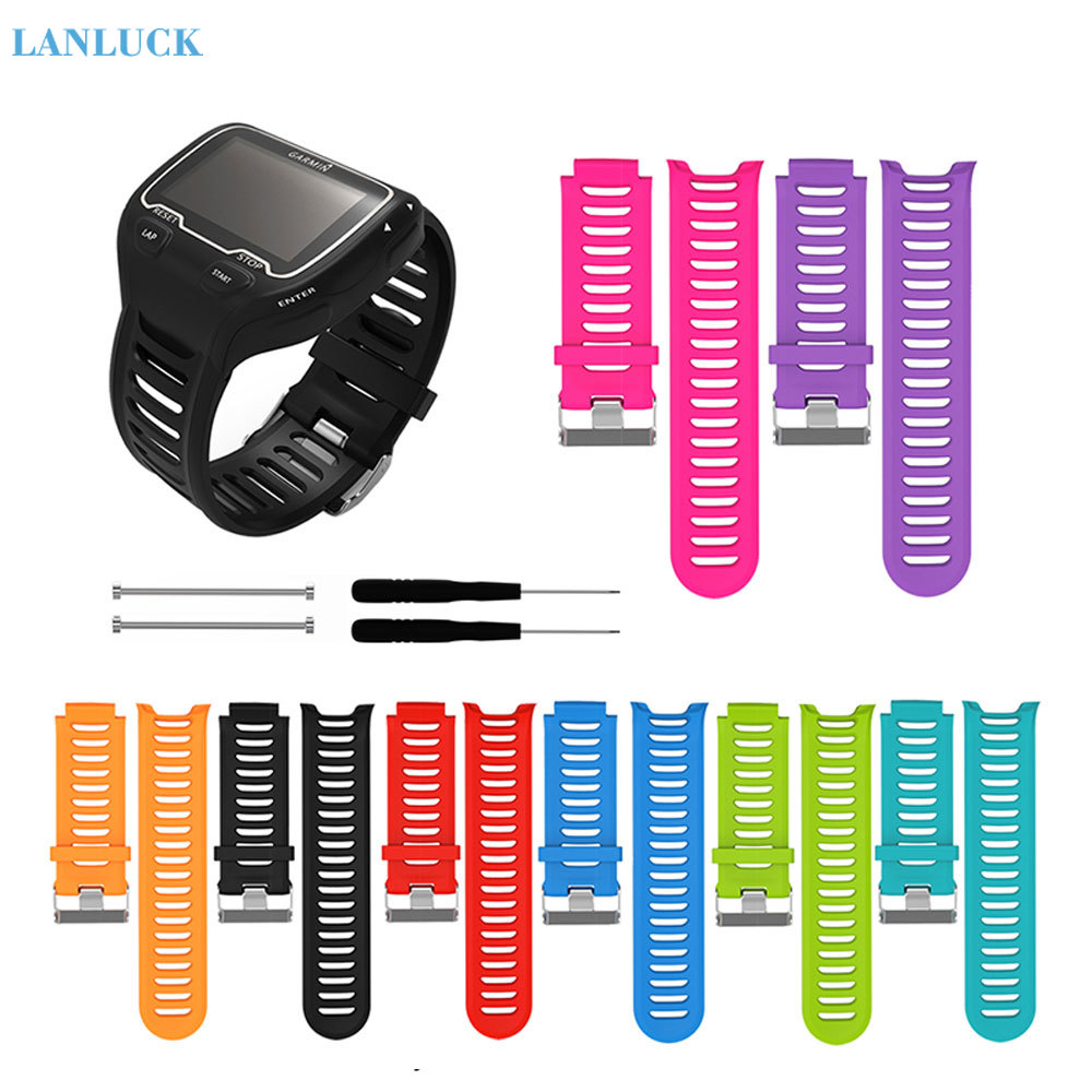 For <font><b>Garmin</b></font> Forerunner <font><b>910XT</b></font> Silicone Wristband Smart Watch Band Replacement Sports Watch <font><b>Strap</b></font> with Repair Tool Accessories image