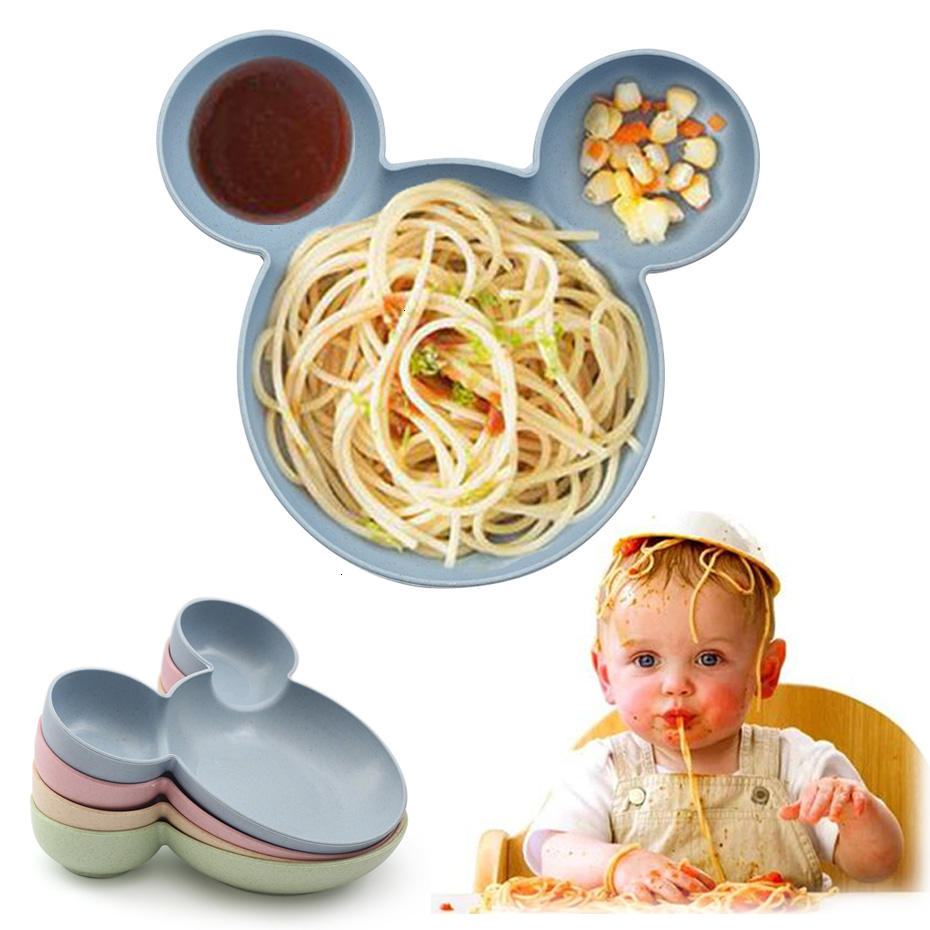 Infant Cartoon Tableware Set Infant Dinner Feeding Plate Children Training Bowl And Spoon Baby Bowl Dishes Kids Plates Plastic