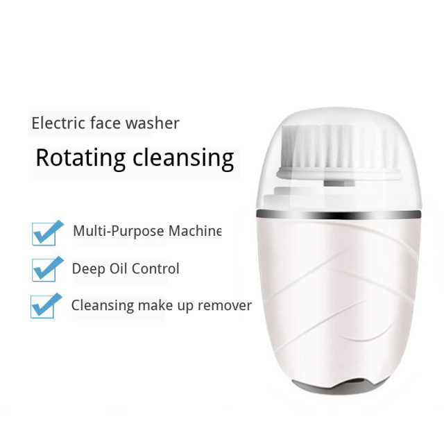 Face Brush Cleansing Device Charcoal Brush Exfoliating Rotating Makeup Remover Deep Pore Cleansing Acne Skin Beauty Massager 3