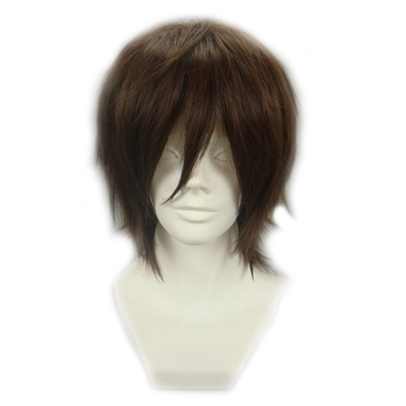 Code Geass Cosplay Wig Knight of Seven Lelouch Lamperouge Brown Fluffy Short Hair Anime Costume Wigs