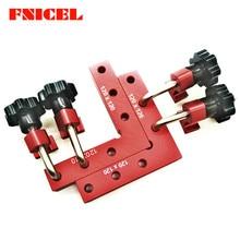 6 pz/set falegnameria morsetti di posizionamento ad angolo retto posizionatore ausiliario strumenti di serraggio ad angolo righello angolare in lega di alluminio