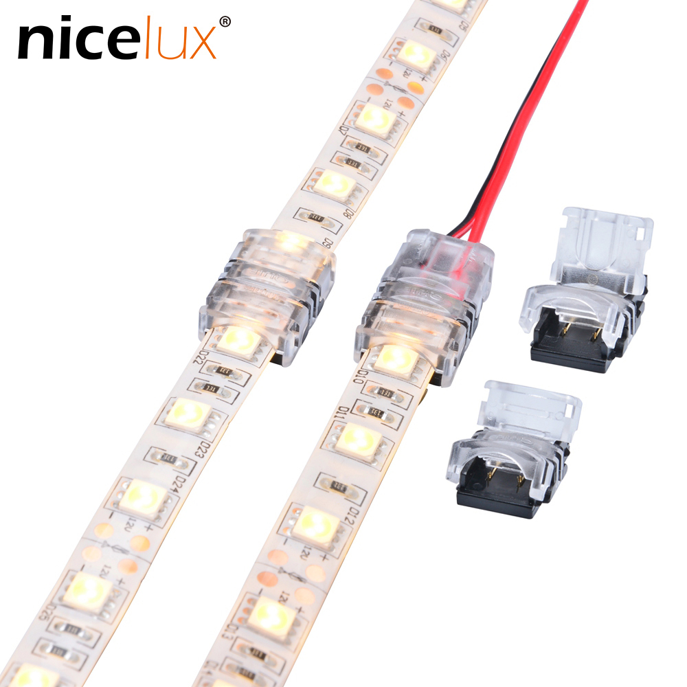 5pcs/lot 2pin 3pin 4pin 5pin LED Strip Connector For Single RGB RGBW Color 3528 5050 LED Strip To Wire Connection Use Terminals