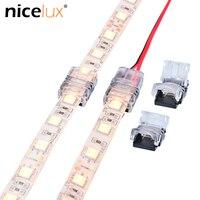 5 unids/lote 2pin 3pin 4pin 5pin conector para tira de LED para RGB RGBW Color 3528 de 5050 tira de LED a cable conexión terminales