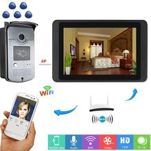 Yobang Security Fingerprint RFID Video Intercom 7 Inch Monitor WIFI Wireless Door Phone Doorbell KIT APP Control