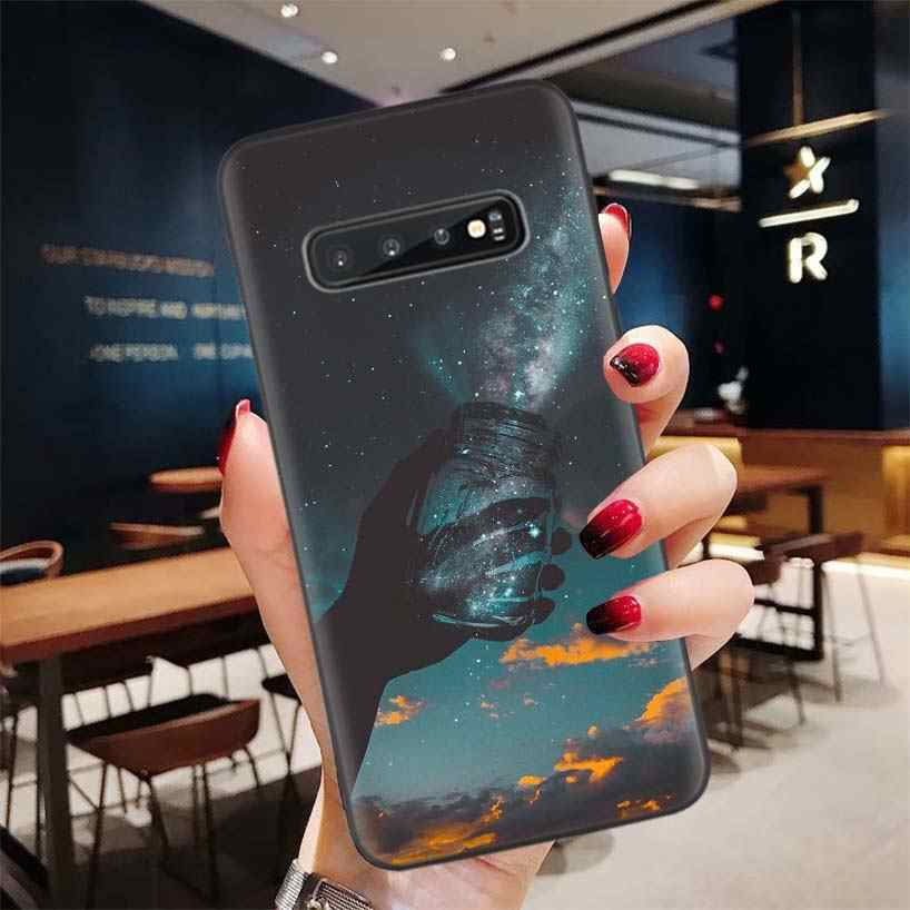 Hd Wallpaper Aesthetic Black Phone Case For Samsung Galaxy S20 Ultra S10e Note 10 9 8 S9 S8 J4 J6 J8 Plus Lite S7 S6 Coque Phone Case Covers Aliexpress