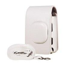 Bolsa de ombro portátil para câmera, instantânea, filme fotocâmera, pu, capa de ombro para fujifilm fuji instax, mini acessórios de liplay