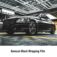Highest quality Samurai Black vinyl wrap black vinyl film matte wrapping film Bubble Free For Car Wrapping Foil quality Warranty