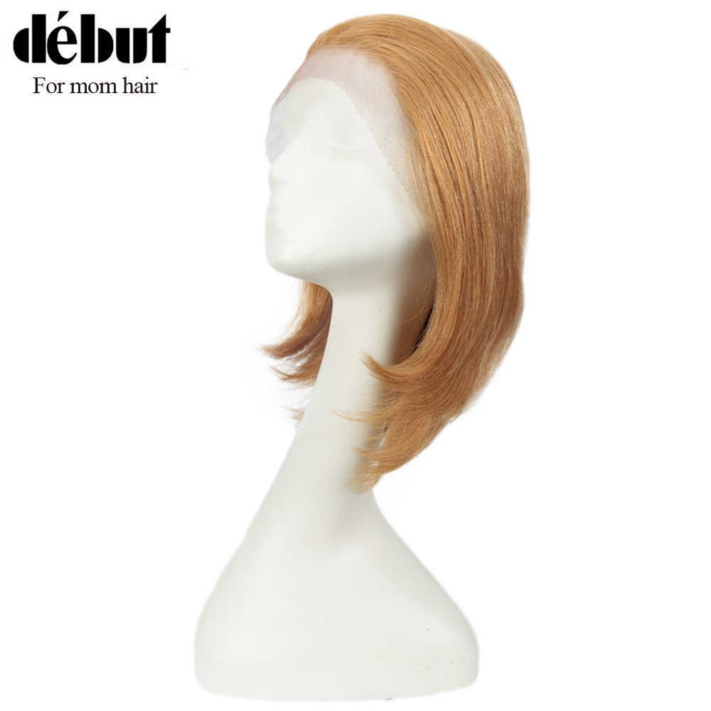 Debut Short Human Hair Wigs Lace Front Human Hair Wigs Blonde Bobo Lace Front Wig For Mom Hair 100% Remy Brazilian Hair Wigs