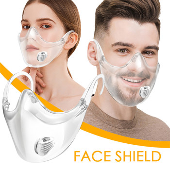 Transparent Face Shield Anti Virus Inf Mask Good Quality Face Shield Combine Plastic Reusable Dustpr Clear Face Mask Mascarilla image