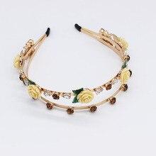 Baroque Luxury Handmade Wedding Hair Accessories Pearl Headdress Bride Pearls Crystals Jewelry Diamond Rhinestone Head Band
