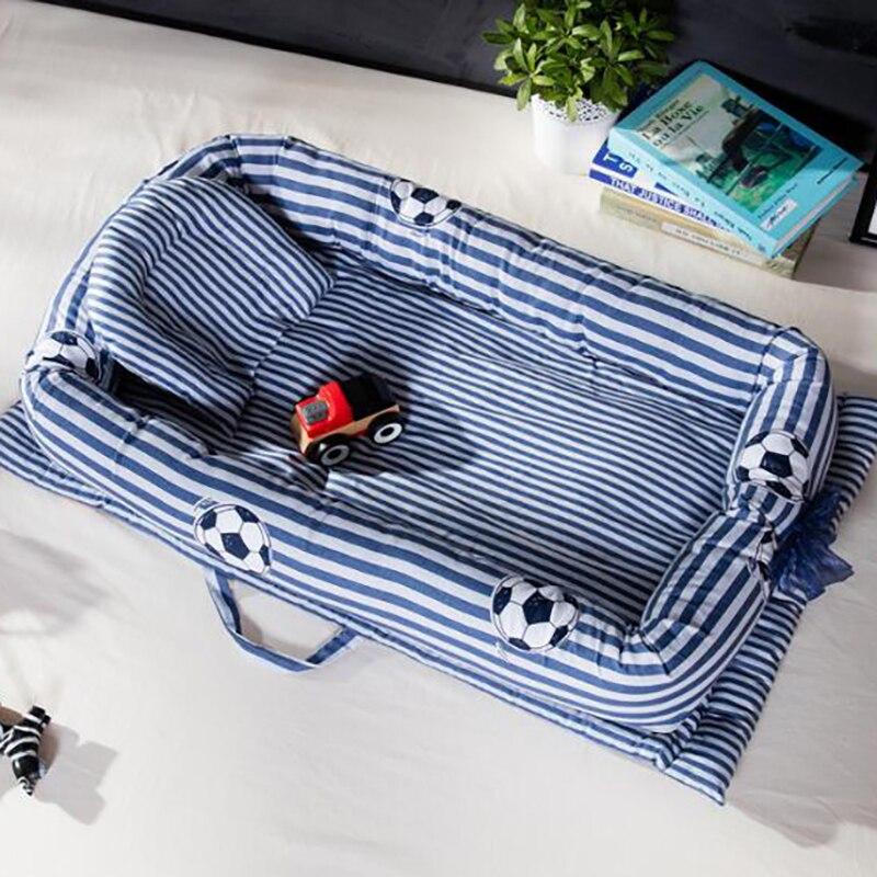 Newborn Baby Sleeping Portable Crib Infant Bed Nest Cotton Basket Crib Toddler Cot 2pcs/set Anti-rollover