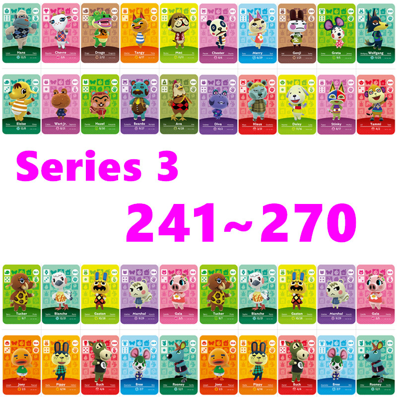 Series 3 (241 To 270) Animal Crossing Card Amiibo Cprinted NFC Compatible Pick From The List Amiibo Card