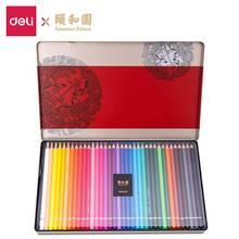 Deli série palácio verão 68126 lápis coloridos lápis coloridos 36/48/72 cor pintados lápis caixa de metal qualidade