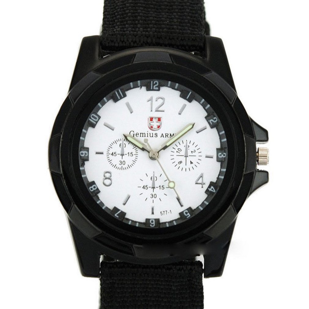 Chronography Sports Watches Waterproof Nylon Strap Men's Wristwatch Casual Quartz Watch New