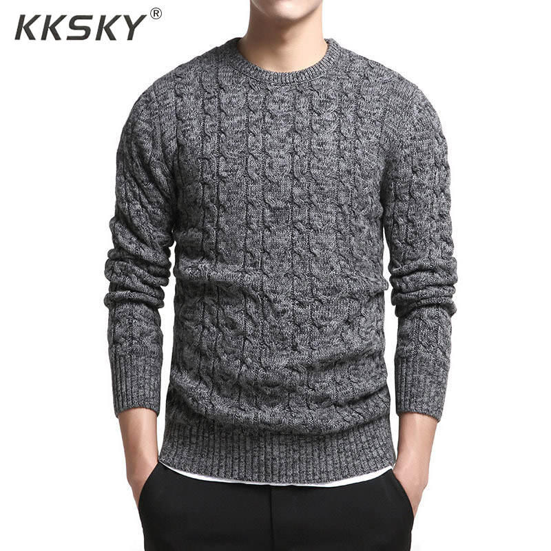 Cotton Sweater Men Long Sleeve Autumn Pullovers And Sweater Coats O Neck Social Pullovers Slim Pull Homme Autumn M -3xl Newest
