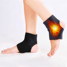 1 pair Magnetic Tourmaline heating ankle support Therapy Guard protection heating protective tourmaline ankle brace Keep Warm 2pcs magnetic therapy ankle brace support spontaneous heating protection elastic ankle belt leg pads protectors health care