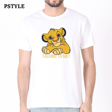 pstyle new tshirt men fashion t shirt talking to me graphic tees summer short sleeve shirts lion print t-shirt man