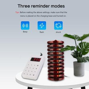 Image 5 - Retekess TD158 Restaurant Pager Mit 10 Coaster Pager Für Restaurant Klinik Kaffee Shop Drahtlose Aufruf System Warteschlange System