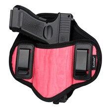 Kosibate táctico funda de pistola oculta llevar fundas cinturón Clip de Metal IWB funda OWB arma del Airsoft bolsa