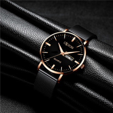 купить Luxury Rose gold Mens Watches Top Brand 2019 New Fashion Quartz Clock Elegant Watch For Men Waterproof Wrist Watch Reloj Hombre по цене 715.79 рублей