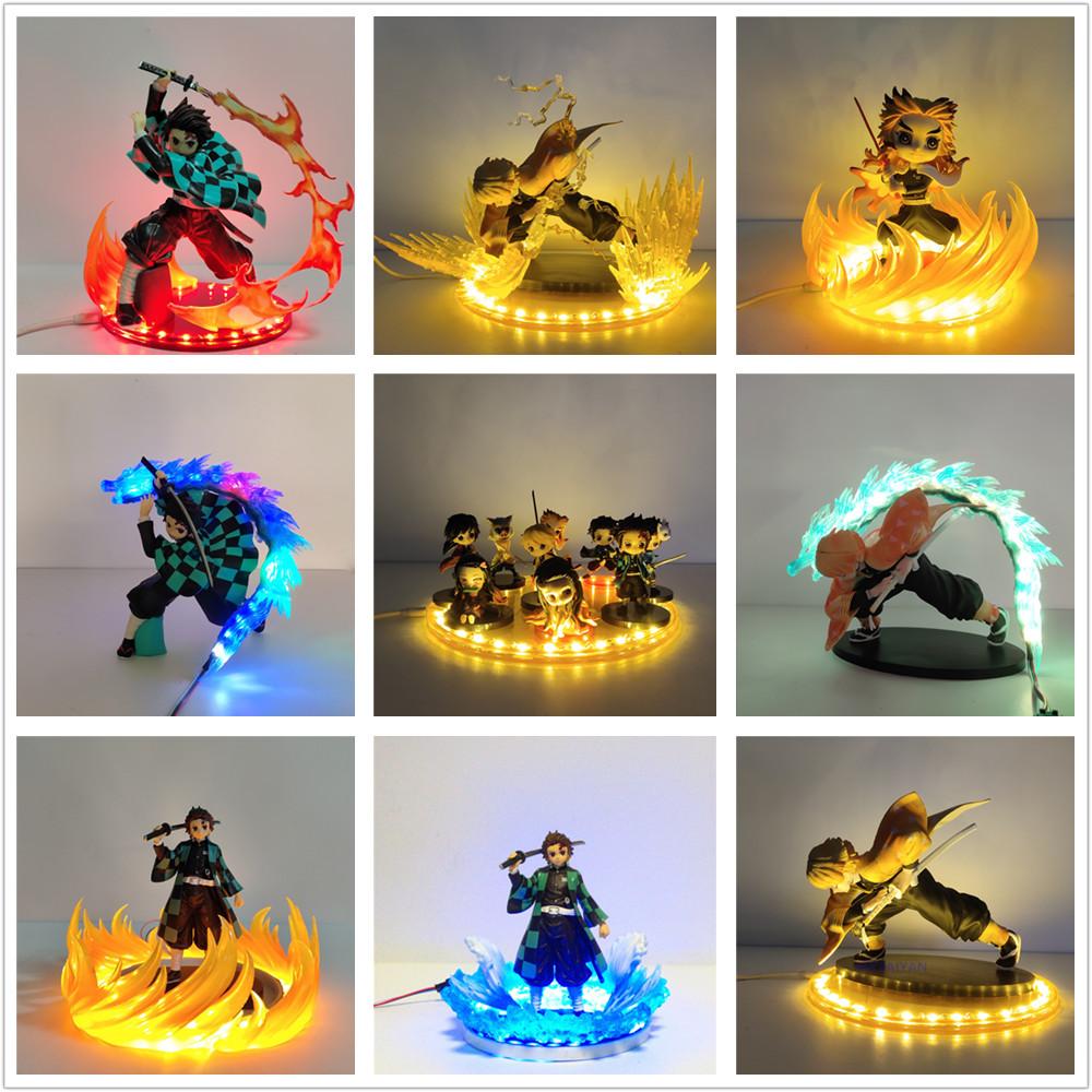 Kimetsu No Yaiba LED Night Light Tanjirou Nezuko Zenitsu DIY Lamp Anime Demon Slayer Bedroom Decoration Lampara Luces Led Cocina