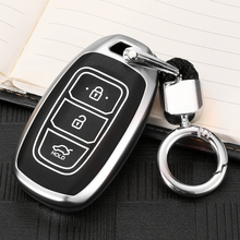 цена на Zinc alloy Car Key Cover Case For Hyundai Kona i30 i35 i40 ix35 Tucson Encino Solaris Azera Santa Fe Accent Grandeur Ig Elantra