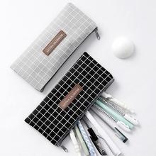 Canvas Pencil Bag Stationery Storage Organizer Pencil Case School Supplies Pencil Case School Box Pencils Pouch Stationery