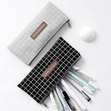 Płótno piórnik magazyn materiałów piśmienniczych organizator piórnik szkolne piórnik szkolne pudełko ołówki etui papiernicze