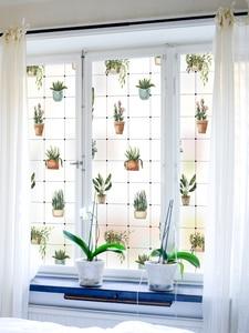 Pastoralen Garten Muster Verschiedene Fenster Milchglas Aufkleber Opaque Wc Film Anti-glare Bad Film Fenster film