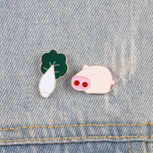 Email Revers Pin Badge Broches leuk varken Chinese kool Cartoon broche denim dier collection Kids beste vrienden sieraden gift(China)