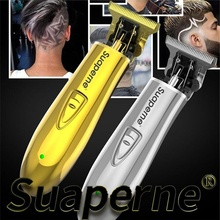 プロフェッショナル充電式バリカン電動ヘアトリマーひげかみそり理髪 0.1 ミリメートルサロンヘアカットシェービングマシン