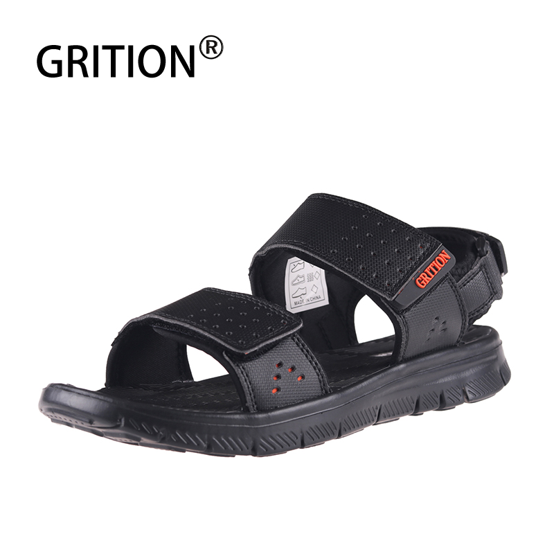 GRITION Men Beach Sandals Outdoor Water Shoes Soft Trekking  Walking Lightweight Casual Breathable Quick-drying Summer Sport New
