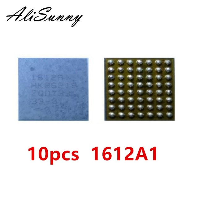 AliSunny 10pcs U2 USB ic 1612A1 for iPhone 8 Plus 8G 8+ 8plus Charging Charger 1612 U6300 56pin Control Chip ic parts
