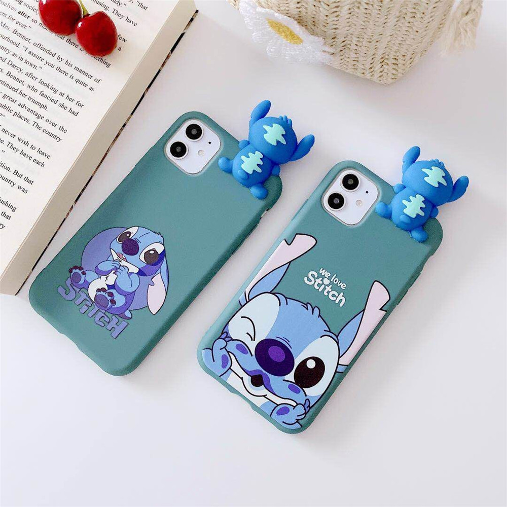3D Cartoon Minnie Stitch Bear Case Cinnamoroll Dog Bugs Bunny Soft TPU Cover For Huawei P40 P30 P20 Lite Pro P10 P Smart Plus