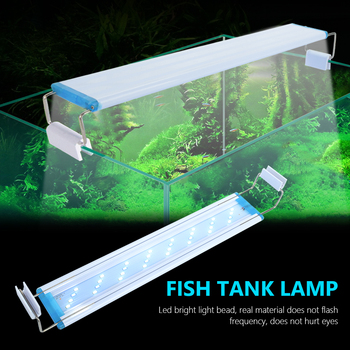Aquarium LED Light Super Slim Fish Tank Aquatic Plant Grow Lighting Waterproof Bright Lamp Blue LED 18-70cm for Plants 90-260V sunsun ads aquarium led lighting aquatic plant grass fish tank led light super bright lamp aquarium light 12 24w grow lampe 220v