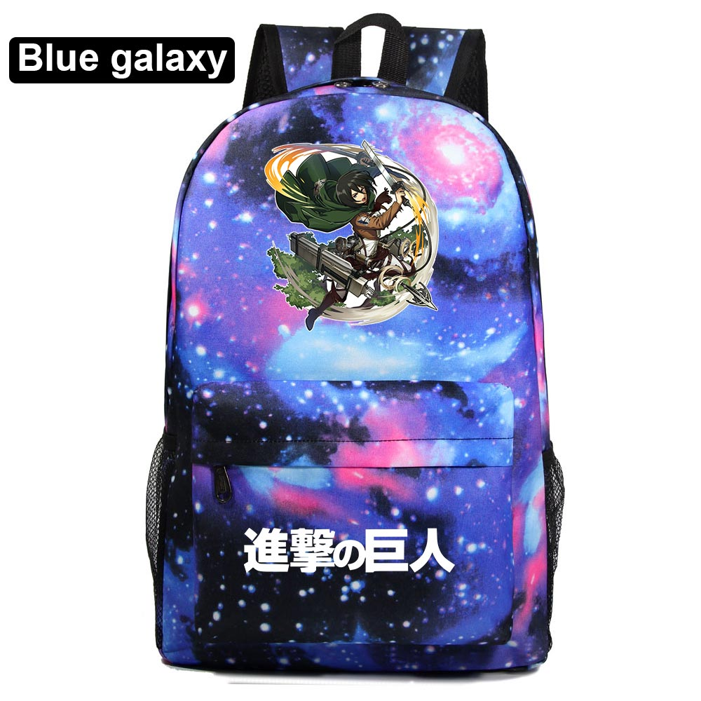 Fashion Anime Attack On Titan Boy Girl School Bag Women Bagpack Teenagers Schoolbags Men Children Student Backpacks