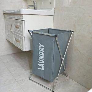 Image 5 - Cesto de almacenaje de ropa sucia, organizador de tres rejillas, cesto plegable, cesto de lavandería grande, cesta de lavandería impermeable para el hogar saco ropa sucia