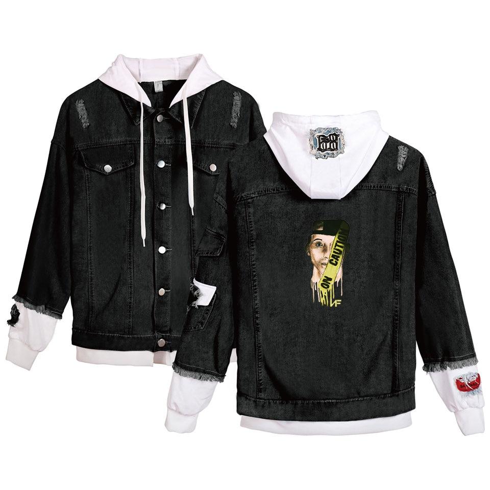 NF Denim Jacket Hoody Men/Women Hot New Personality Harajuku Young Rapper Nate Feuerstein Hoodies Men's Denim Casual Jacket