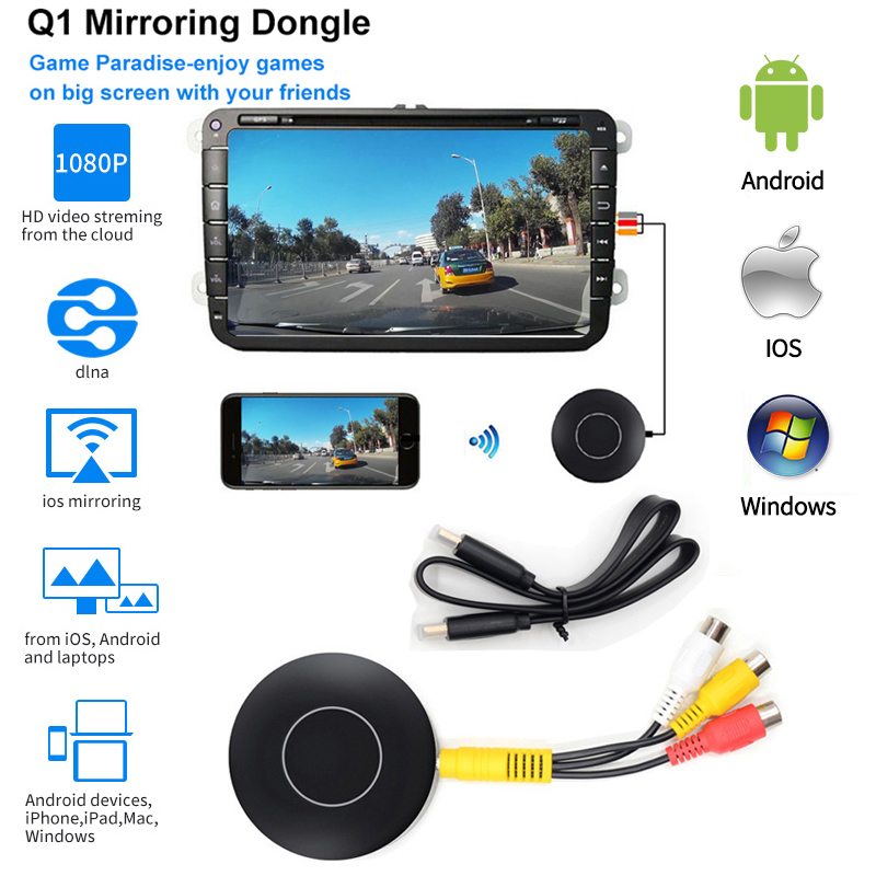 RCA DLNA AV Out Android TV Wireless screen mirroring HDTV miracast Dongle HDMI