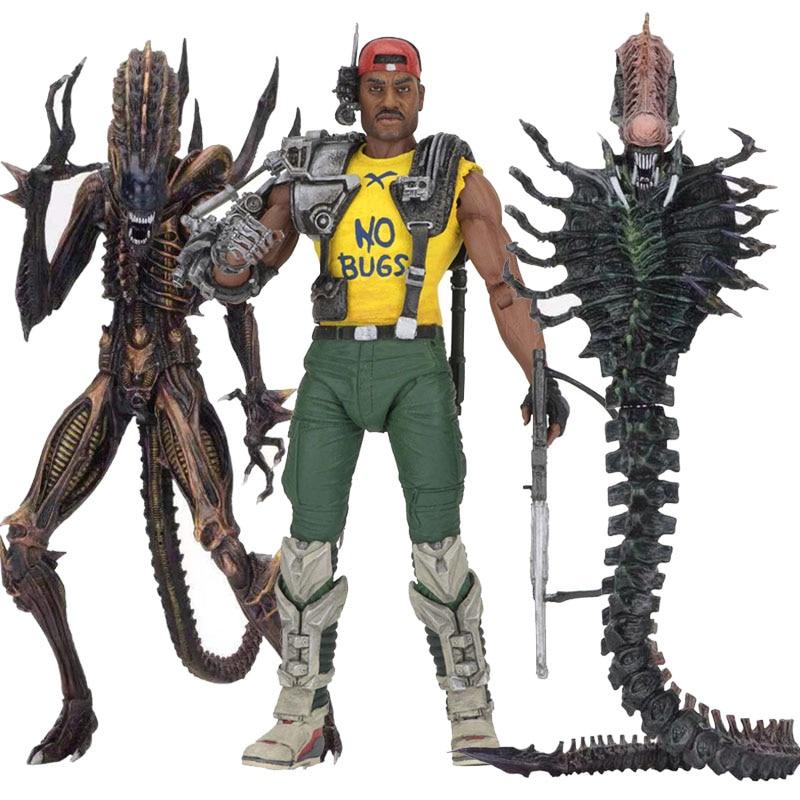 NECA Series 13 Aliens Scorpion Snake Alien Sgt Apone Kenner Action Figure Model Toys Doll For Gift
