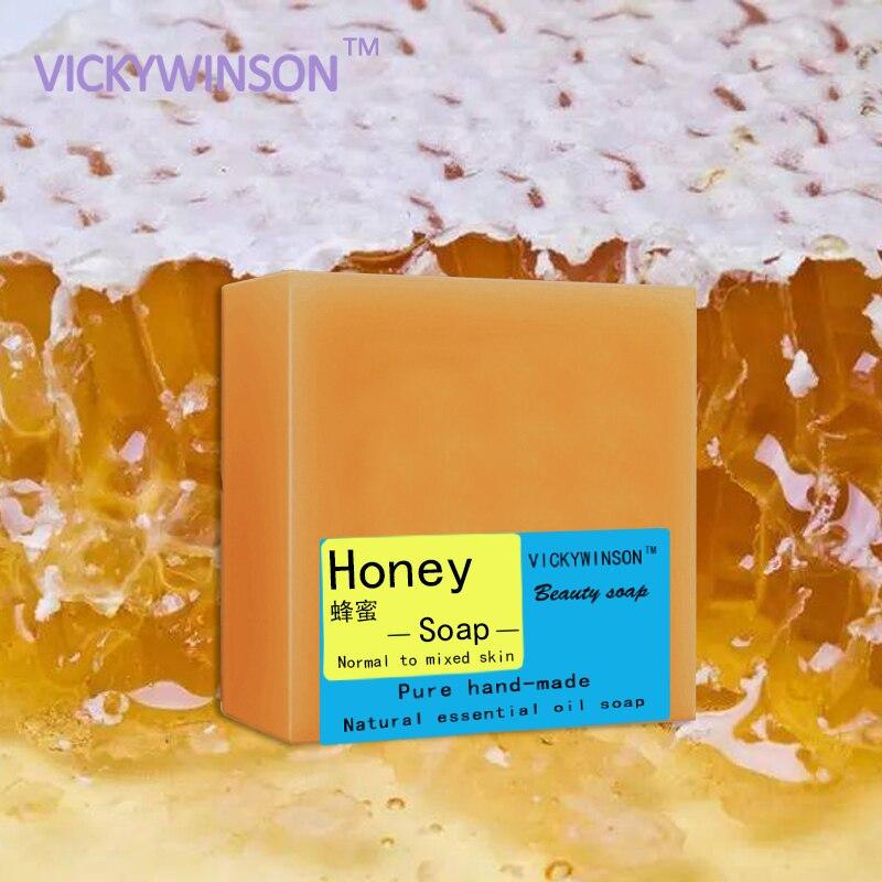 VICKYWINSON Honey Handmade Soap 100g 100% HandMade Whitening Peeling Glutathione Arbutin Honey