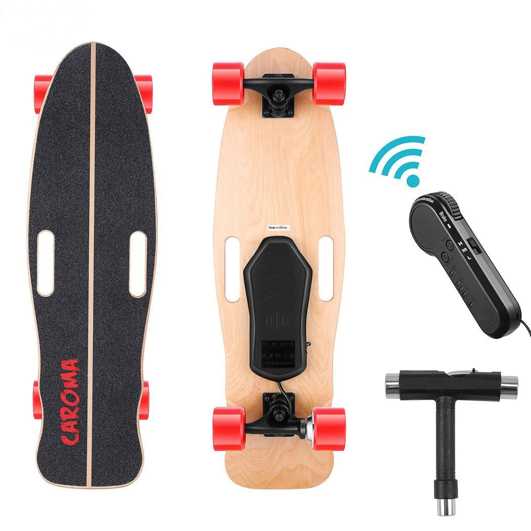 PU Wheel 3-Speed Electric Skateboard Lithium Battery Powered with Remote Controller 29.4V 2000mah Lithium Battery Maple Deck 10